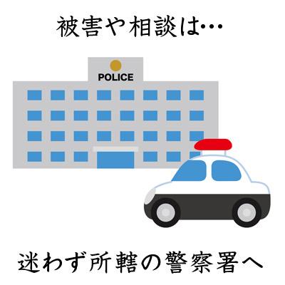 パトカーと警察所